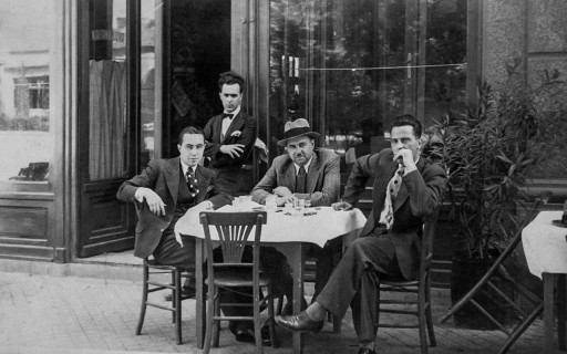"The lawyers at the ""Louvre"" kafana"